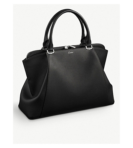 CARTIER C de Cartier leather small tote (Black