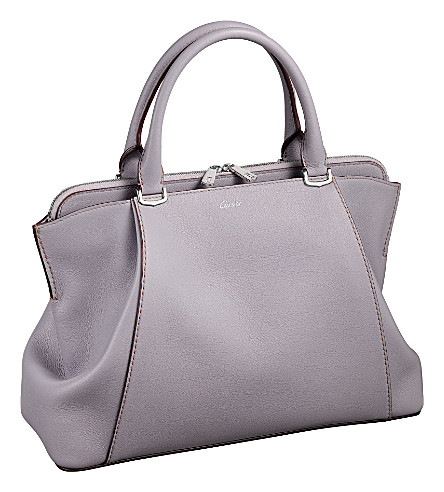 CARTIER C de Cartier leather small tote (Lilac