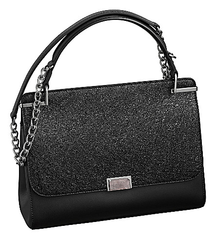 CARTIER Jeanne Toussaint leather chain bag (Black