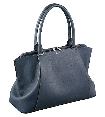 CARTIER C de Cartier leather medium tote (Grey
