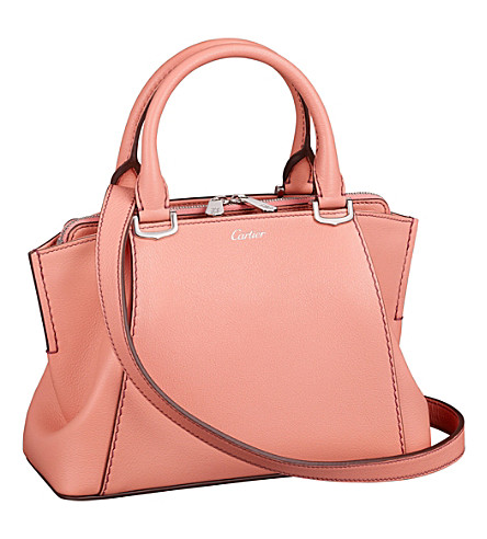 CARTIER C de Cartier leather mini tote (Morganite