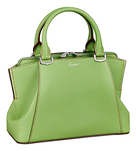 CARTIER C de Cartier leather mini tote (Peridot