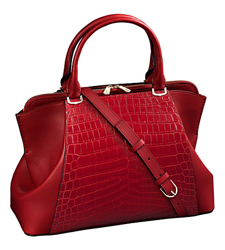 CARTIER C de Cartier crocodile skin and leather bag, small model