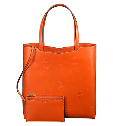 CARTIER Happy Birthday 'Le 18H' calfskin tote bag