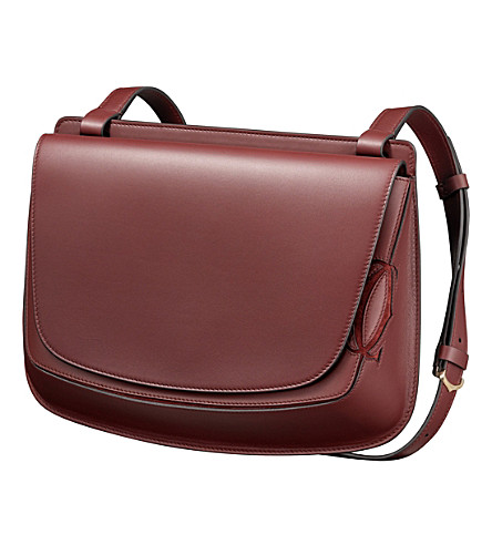 CARTIER Must-C calfskin saddlebag