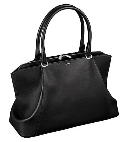 CARTIER C de Cartier leather medium tote