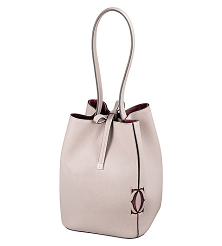CARTIER Must-C calfskin bucket bag