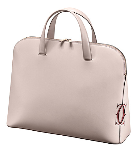 CARTIER Must-C medium calfskin tote bag