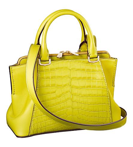CARTIER C de Cartier crocodile-leather and calfskin bag