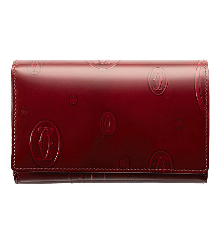 CARTIER Happy Birthday compact wallet (Burgundy