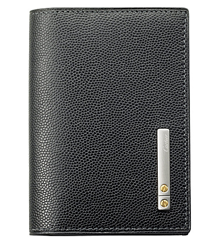 CARTIER Santos de Cartier 2 slot credit card holder (Black