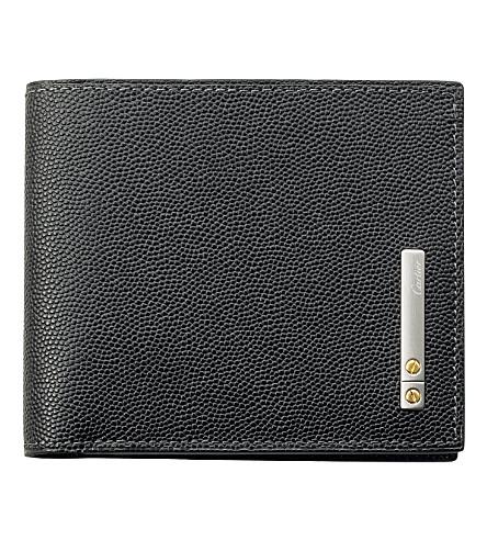 CARTIER 桑托斯 de Cartier 6 插槽信用卡持有人 (黑色