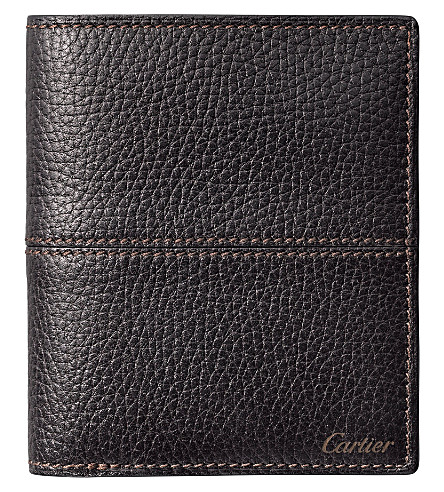 CARTIER Saddle-stitched line multi-card holder (Ebony