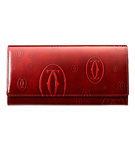 CARTIER Happy Birthday 12 slot credit card wallet (Burgundy