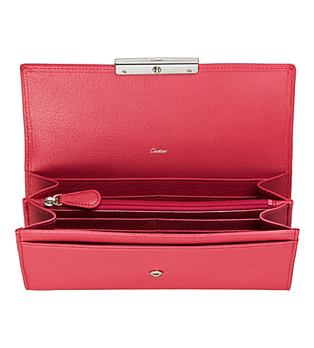 CARTIER Love 12 slot credit card wallet (Fuchsia