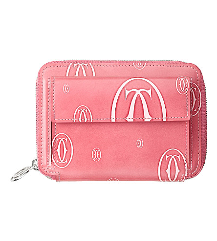 CARTIER Happy Birthday zipped compact wallet (Pink