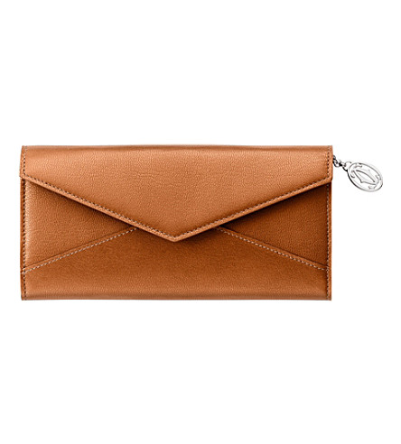CARTIER Collection Les Must slim wallet (Tobacco