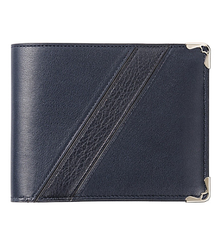 CARTIER Must de Cartier leather wallet (Night+blue