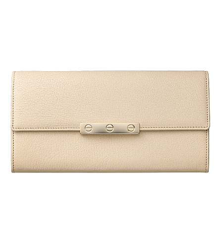 CARTIER Love International leather wallet (Cream