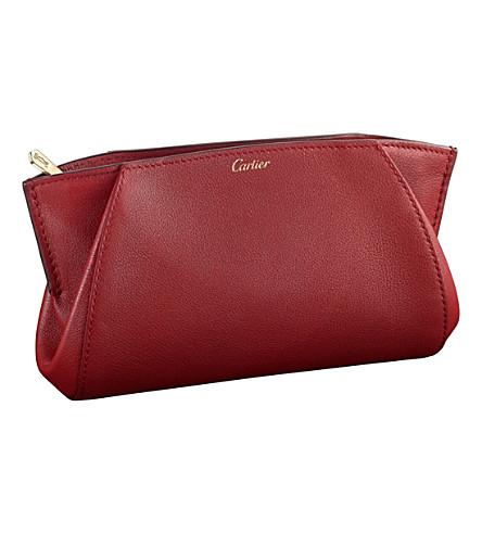 CARTIER C de Cartier calfskin pouch