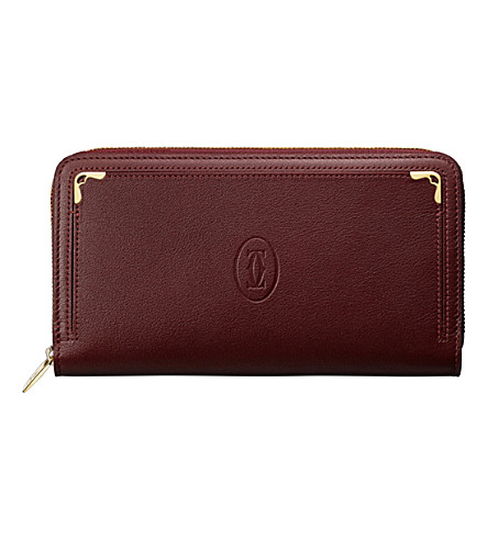 CARTIER Must de Cartier calfskin International wallet