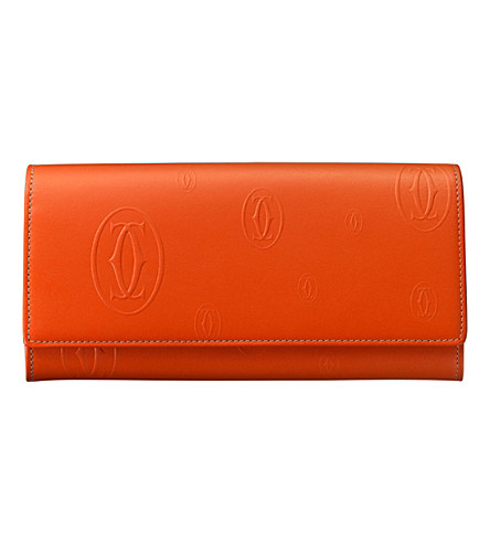 CARTIER Happy Birthday calfskin International wallet