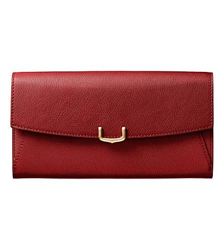 CARTIER C de Cartier International leather wallet
