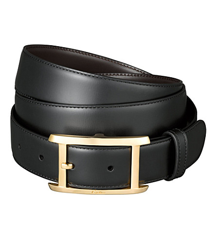 CARTIER Reversible strap belt (Black/brown