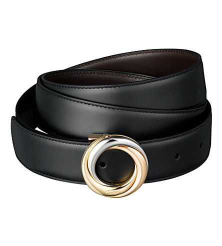 CARTIER Reversible strap buckle belt (Black/brown