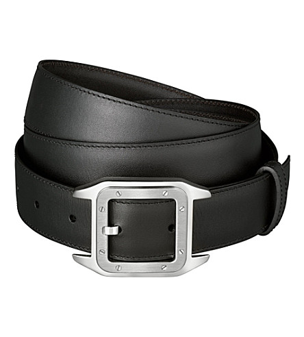 CARTIER Reversible leather belt (Black/brown