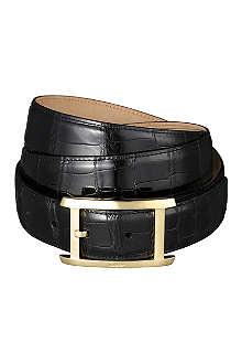 CARTIER Porosus crocodile-leather buckle belt