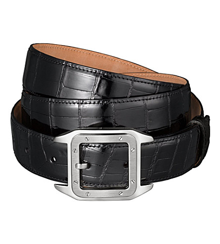 CARTIER Crocodile-leather belt (Black