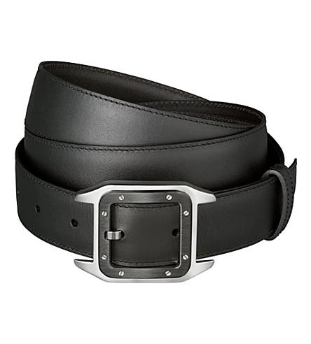 CARTIER Leather belt (Black/brown