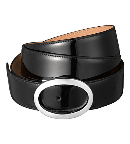 CARTIER Leather belt (Black