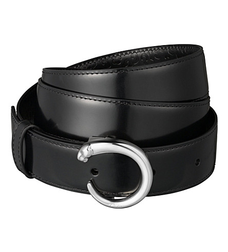 CARTIER Panthère leather belt (Black