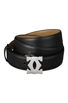 CARTIER Double-C leather logo belt