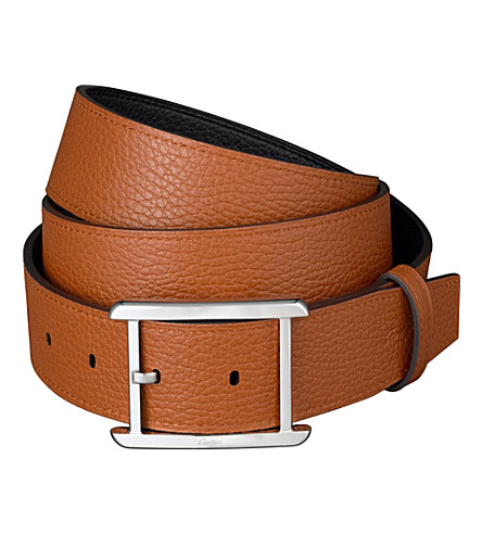 CARTIER Tank Solo belt (Ebony/brandy
