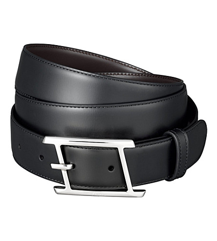 CARTIER Leather belt (Black/brown