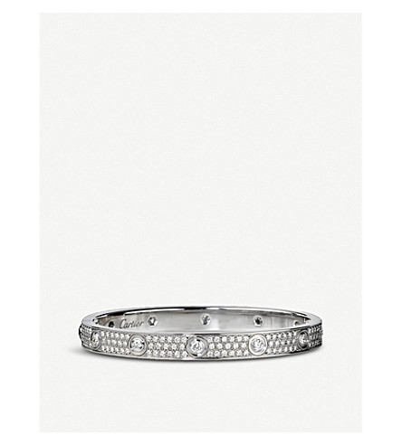 CARTIER Love 18ct white-gold and diamond bracelet