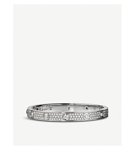 CARTIER 爱18ct 白金钻石手链
