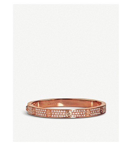CARTIER Love 18ct pink-gold and diamond bracelet