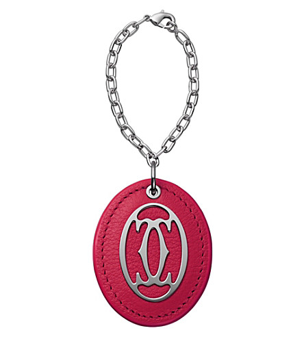 CARTIER C de Cartier leather key ring