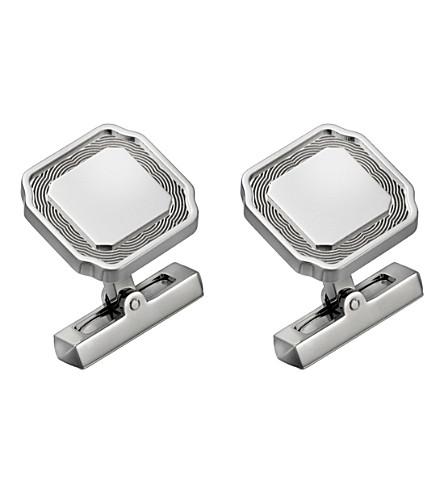 CARTIER Santos de Cartier sterling silver cufflinks