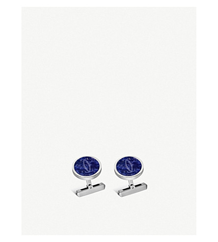 CARTIER Double C sterling silver and sodalite cufflinks