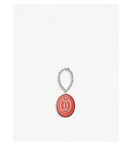 CARTIER C de Cartier leather key ring