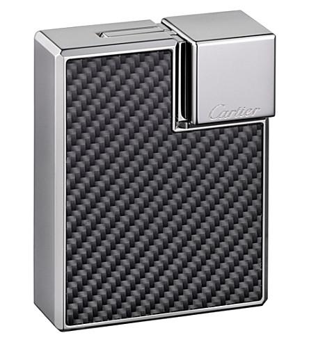 CARTIER Carbon motif square lighter