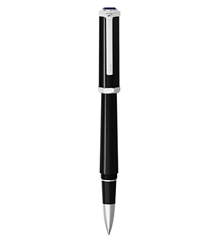 CARTIER Santos-Dumont palladium and resin rollerball pen