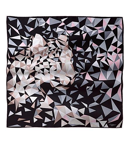 CARTIER Panthère pixel silk scarf