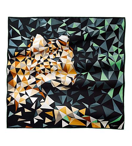 CARTIER Panthère 像素真丝围巾