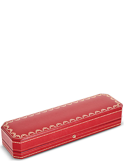 CARTIER 桑托斯德 Cartier 18ct 黄金钢圆珠笔